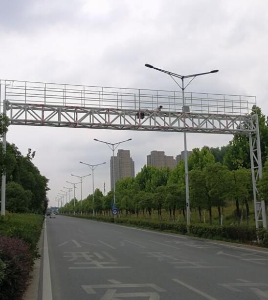 合肥市生态环境局固定垂直式机动车遥感监测点二期案例现场